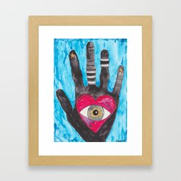 """Love In Hand"" Watercolor by Tina Lynn Ellis Framed Art Print"