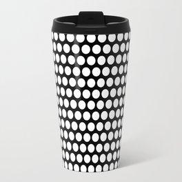 Polka / Dots - Black /White - Large Travel Mug