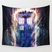 tardis Wall Tapestries featuring Tardis by jasric