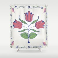 tulip Shower Curtains featuring Tulip by Rceeh