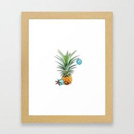 Christmas Pineapple Framed Art Print