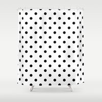 dots Shower Curtains featuring Dots by Kings in Plaid