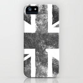 Grey UK Flag iPhone Case