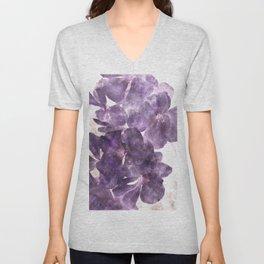 Purple Blossoming Unisex V-Neck