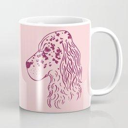English Setter (Pink and Plum) Coffee Mug