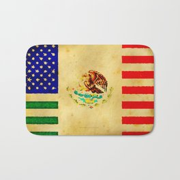 MEXICAN AMERICAN FLAG - 017 Bath Mat