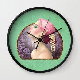 Cascade of Flowers Wall Clock