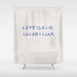 Love Is a Lie Basquiat Diary Shower Curtain