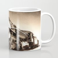 train Mugs featuring Train by SteeleCat