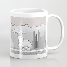 Rainy Day, Sad Turtle Coffee Mug
