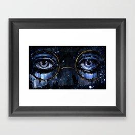 Great Gatsby - Dr TJ Eckleburg - by Hasun Khan Framed Art Print