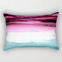 sunset beach. fuchsia teal Rectangular Pillow