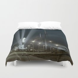 Why Do Rockets Launch At Night Duvet Cover