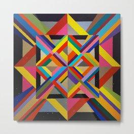 Multi Colour geometric abstract art Metal Print