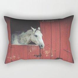 Fleabitten Grey Rectangular Pillow