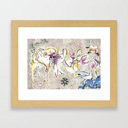 i love life Framed Art Print