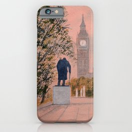 Churchill And Big Ben iPhone Case