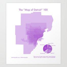 "100 ""Maps of Detroit"" Art Print"