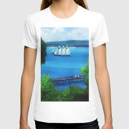 American Masterpiece 'Passing Schooner' by John French Sloan T-shirt