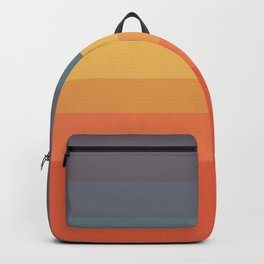 7 Colorful Abstract Retro Summer Design Stripes Napi Backpack
