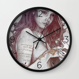 You Lied: Rainbow (nude girl with mehndi tattoos) Wall Clock