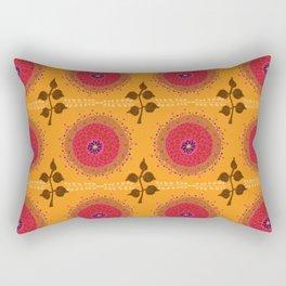 Ma Boheme La Floraison - Floral Bohemian Pattern Rectangular Pillow