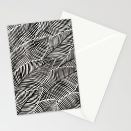 Tropical Palm Leaves – Black Palette Stationery Cards
