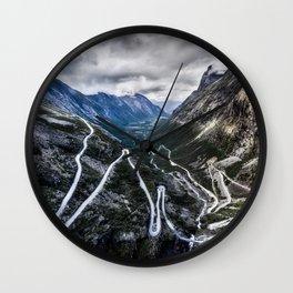 Trollstigen, Norway. Wall Clock