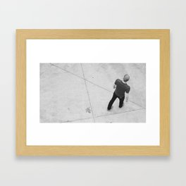 Concrete and Cell Phones Framed Art Print