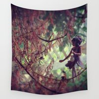 fairy Wall Tapestries featuring Fairy by Kyle Dufort