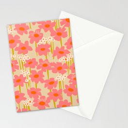 Relax in your summer meadow – floral shapes pattern Stationery Cards