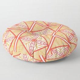 UrbaNesian Orange Siapo Floor Pillow