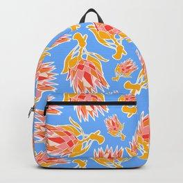 Australian Native Floral Pattern - King Protea Backpack