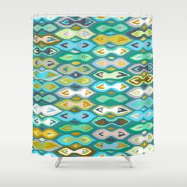 Sagar ikat Shower Curtain
