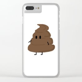 Mr. Poopy Clear iPhone Case