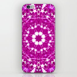 Pink Starburst Mandala iPhone Skin