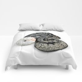 Jade Black And White Comforters
