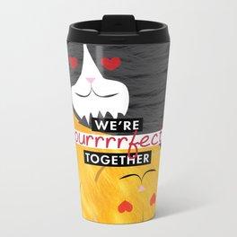 Purrrrfect Together Metal Travel Mug