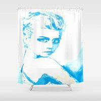 ali Shower Curtains featuring Ali H. by Kim Ly