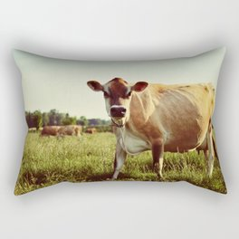 jersey cow Rectangular Pillow