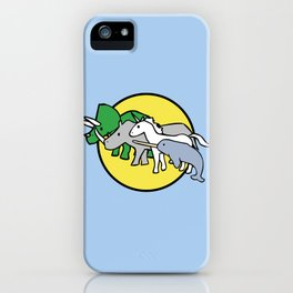Horned Warrior Friends (unicorn, narwhal, triceratops, rhino) iPhone Case