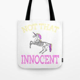 Creepy yet fantastic tee design for adult kiddos and family! Makes a creepy gift too!  Tote Bag