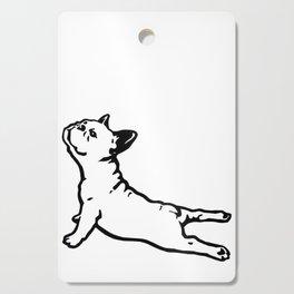 FRENCH BULL DOG YOGA NAMASTE product FUNNY GYM design DOGS Cutting Board