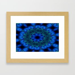 Battling At The Chasm Mandala 9 Framed Art Print