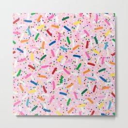 Rainbow Sprinkles on Strawberry Ice Cream Metal Print