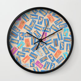DUDE BEACH, by Frank-Joseph Wall Clock
