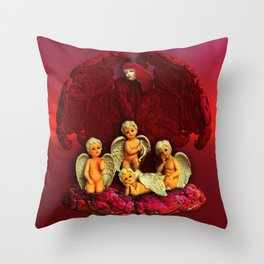 #Christmas Angels Throw Pillow