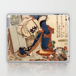 The Strong Oi Pouring Sake by Katsushika Hokusai Laptop & iPad Skin