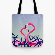 Flamingos Birds Love Design Tote Bag