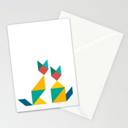 Tangram Cats 1 Stationery Cards